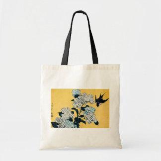 「紫陽花と燕」葛飾北斎 木版画 TOTE BAG