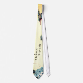 紫陽花にカワセミ, 広重 Hydrangea and Kingfisher, Hiroshige Tie