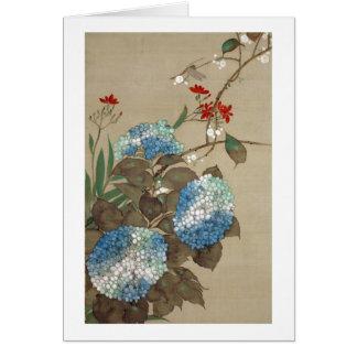 紫陽花, 抱一 Hydrangea, Hōitsu Card