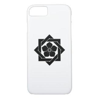 組合角に桔梗 iPhone 7 CASE