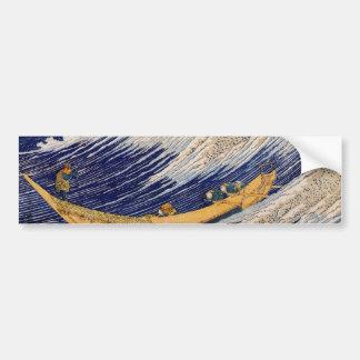 総州銚子 del ・ del 千絵の海, olas oceánicas del 北斎, Hokusa Pegatina Para Auto