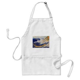 総州銚子 del ・ del 千絵 海 olas oceánicas del 北斎 Hokusa Delantal