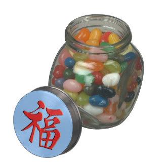 红福中文t恤 Red Blessing 紅祝福 Grace Good Fortune Luck Glass Jars