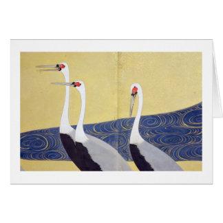 群鶴図屏風(部分), 其一 Cranes(detail), Kiitsu Card