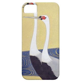 群鶴図屏風(部分), 其一 Cranes(detail), Kiitsu iPhone SE/5/5s Case