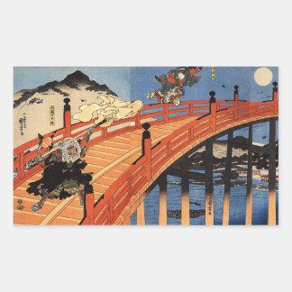 義経と弁慶, 国芳, Yoshitsune y Benkei, Kuniyoshi, Ukiyo-e Rectangular Altavoces