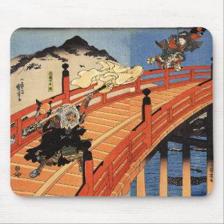 義経と弁慶, 国芳, Yoshitsune y Benkei, Kuniyoshi, Ukiyo-e Tapetes De Raton