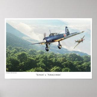 """航空芸術ポスター""""三菱Ki-51ソニア"""" Print"""