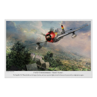 航空芸術ポスター P-47D 落雷 粋なSU PRINT
