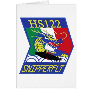 航空隊パッチ del 海上自衛隊第 122 tarjeta de felicitación