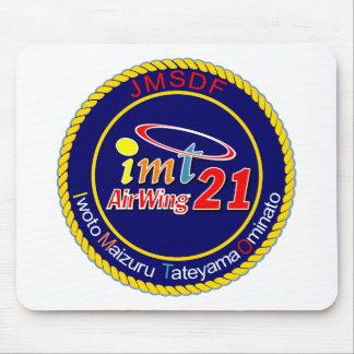 航空隊パッチ del 海上自衛隊第 21 tapetes de ratones