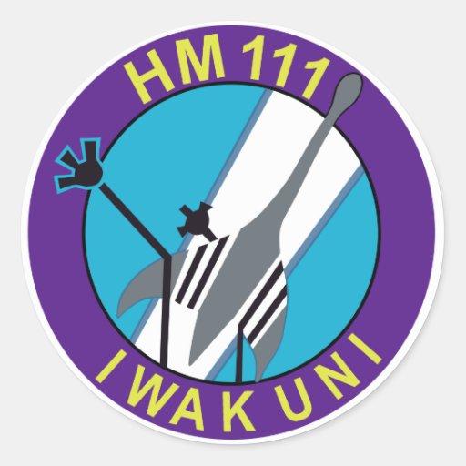 航空隊 del 岩国基地第 111 pegatina redonda