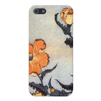 芥子の花, 北斎 Poppies, Hokusai, Ukiyoe Case For iPhone SE/5/5s