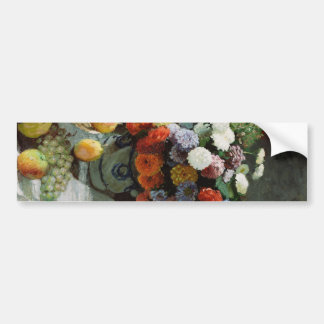 花と果物 ある静物 バンパーステッカー