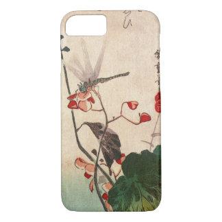 花にトンボ, 広重 Dragonfly and Flower, Hiroshige, Ukiyo-e iPhone 7 Case