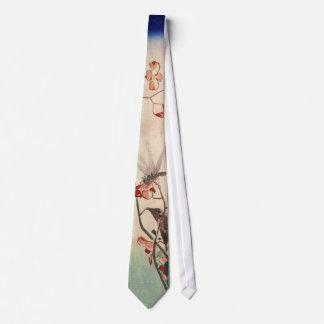 花にトンボ, 広重 Dragonfly and Flower, Hiroshige, Ukiyo-e Neck Tie