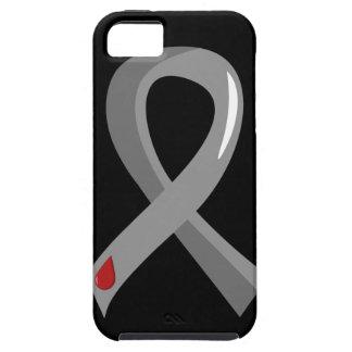 若年性糖尿病の灰色のリボン3 iPhone 5 CASES