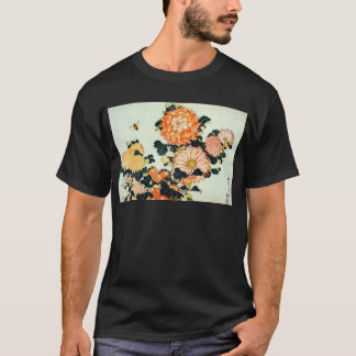 菊と蜂, 北斎 Chrysanthemum and Bee, Hokusai T-Shirt