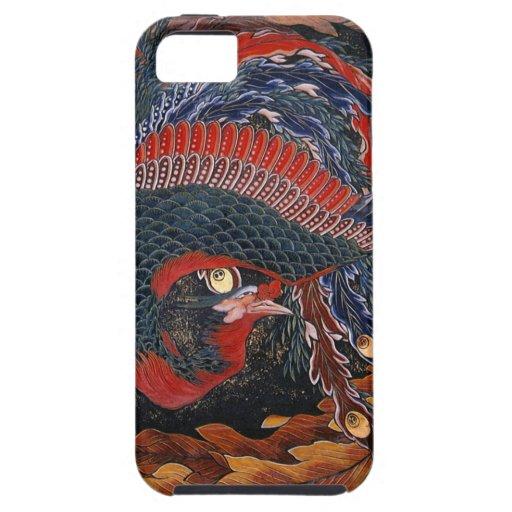 葛飾北斎の鳳凰 Firebird Goddess Hokusai iPhone 5 Cover