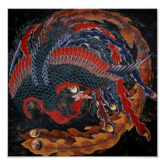 葛飾北斎の鳳凰 Firebird Goddess Hokusai Print