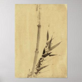 葛飾北斎 de bambú Katsushika Hokusai del 竹 Poster