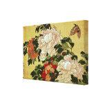 葛飾北斎 Katsushika Hokusai de la mariposa de los Peon Impresiones En Lona