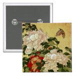 葛飾北斎 Katsushika Hokusai de la mariposa de los Peon Pin