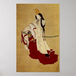 葛飾北斎 Katsushika Hokusai de Shirabyōshi del 白拍子 Posters