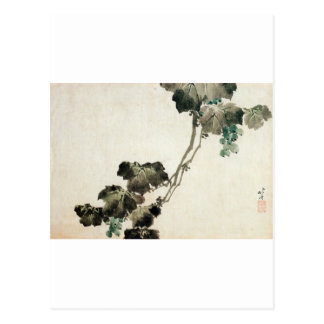 葡萄, 北斎 Grape, Hokusai Postcard