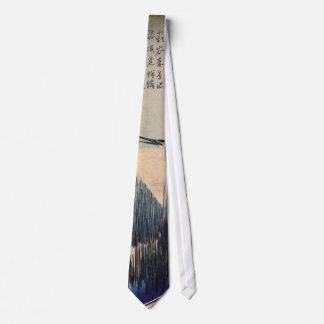 葦に白鷺, garza y caña blancas, Hiroshige, Ukiyo-e del Corbatas Personalizadas