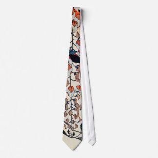 藤にセキレイ, 北斎 Wagtail and Wisteria, Hokusai, Ukiyo-e Neck Tie