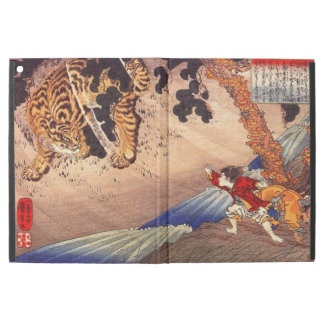 虎と闘う少年, Boy Fights Tiger, Kuniyoshi, Ukiyo-e iPad Pro Case