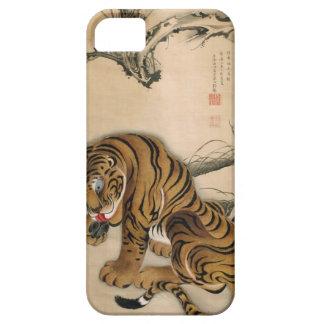 虎図, 若冲 Tiger, Jakuchū, Japan Art iPhone SE/5/5s Case