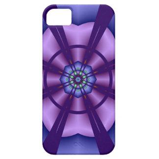 装飾的なiPhone 5の場合の紫色の花 iPhone 5 Case