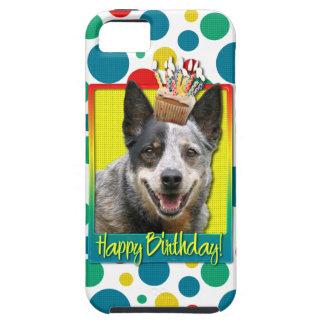 誕生日のカップケーキ-オーストラリアの牛犬 iPhone SE/5/5s CASE