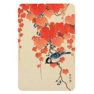 赤い蔦に鳥, 古邨 Bird on Red Ivy, Koson, Ukiyo-e Rectangular Photo Magnet