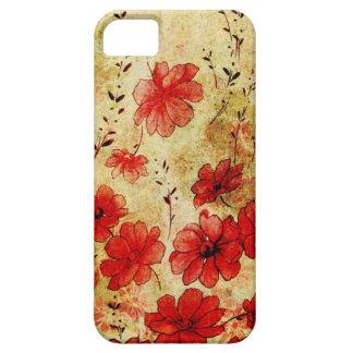 赤くグランジな花のiPhone 5 iPhone 5 Cases