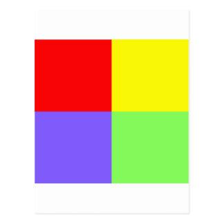 赤ー青ー緑ー黄 - 02 POSTAL