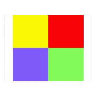 赤ー青ー緑ー黄 - 3 POSTALES