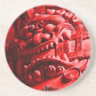赤鬼 de la máscara de Oni del samurai Posavaso Para Bebida
