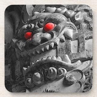 赤鬼 de la máscara de Oni del samurai Posavasos De Bebida