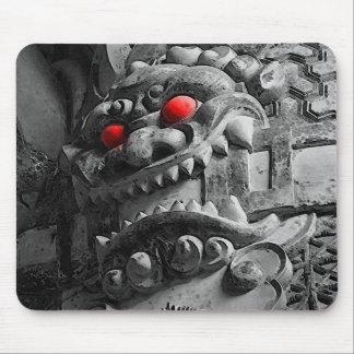 赤鬼 de la máscara de Oni del samurai Alfombrilla De Ratón