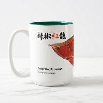 辣 椒 crimson dragon (spoon head type) Two-Tone coffee mug