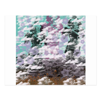 迦 tower 羅 the mountain of king and spring postcard