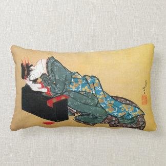 酔った女, 北斎 Drunk Woman, Hokusai, Ukiyo-e Throw Pillow
