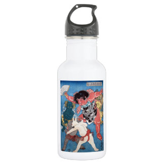 金太郎と動物,国芳 Kintaro & Animals, Kuniyoshi, Ukiyo-e Water Bottle