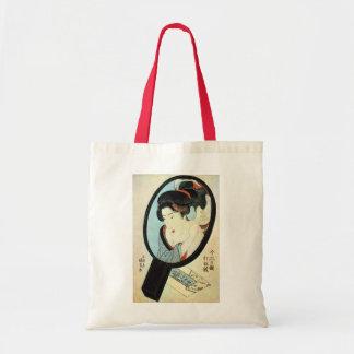 鏡の中の女, 国貞 Woman in the Mirror, Kunisada Tote Bag