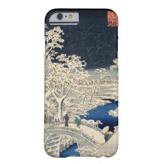 雪の太鼓橋, 広重 Snowy Drum bridge, Hiroshige, Ukiyo-e Barely There iPhone 6 Case