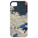 雪の太鼓橋, puente del tambor Nevado del 広重, Hiroshige, Funda Para iPhone SE/5/5s