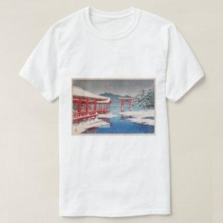 雪の宮島, Miyajima Shrine in Snow, Hasui Kawase T-Shirt